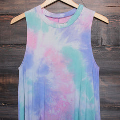 to dye for t shirt tank dress - purple tie dye - shophearts - 3