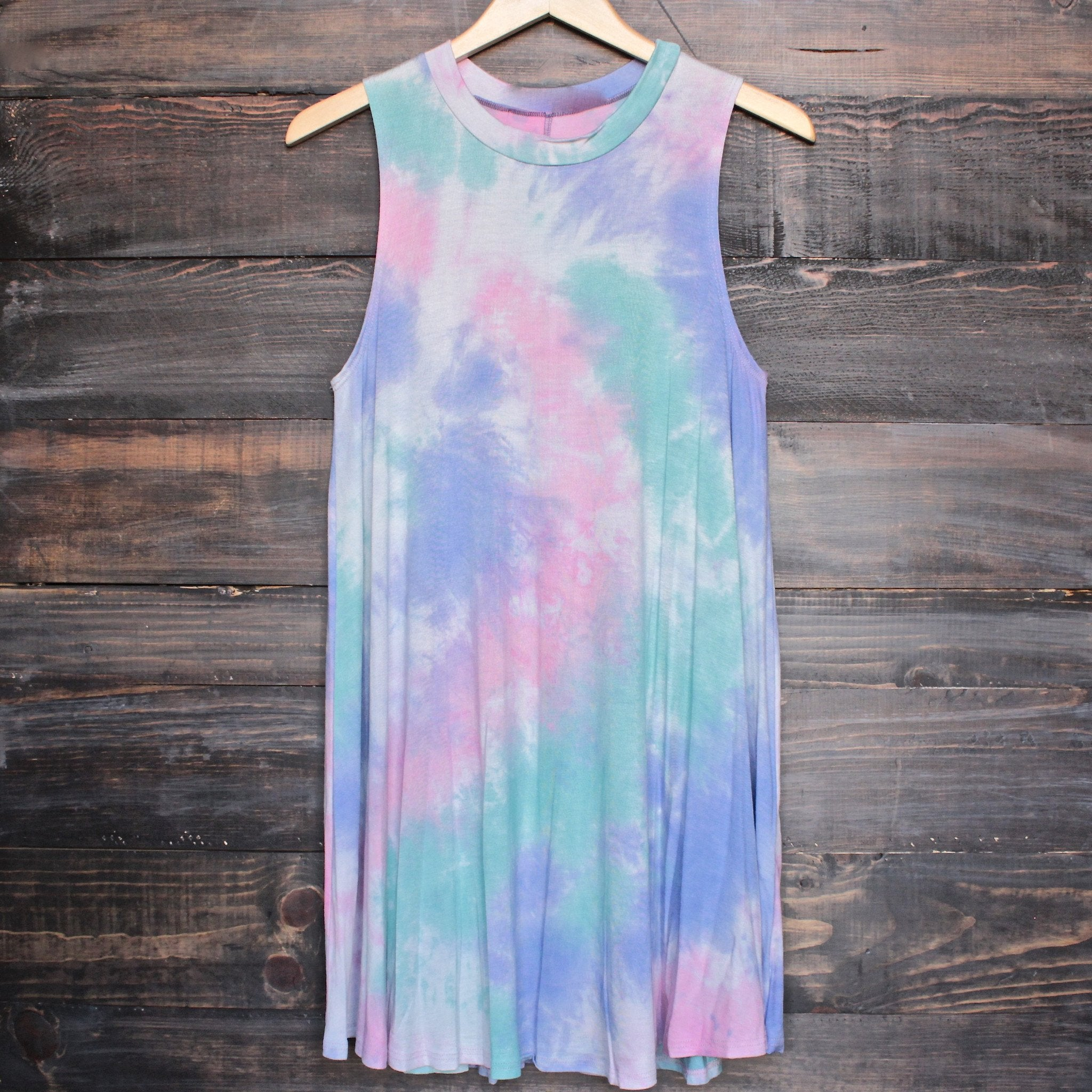 to dye for t shirt tank dress - purple tie dye - shophearts - 1