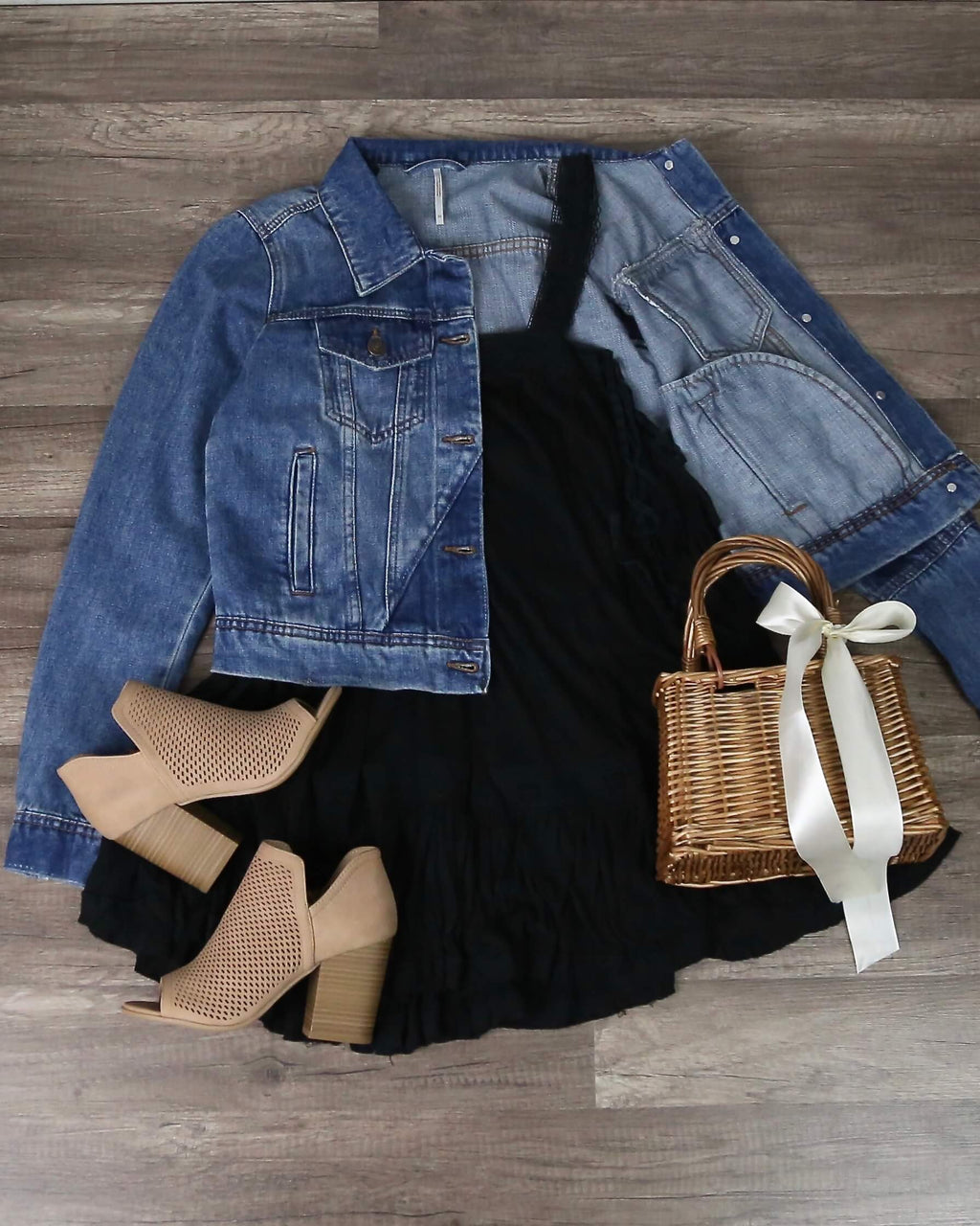Free People - Rumors Denim Jacket - Indigo Combo