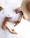 Miracle Miles - Lenna Thick Ankle Strap Block Heel - More Colors