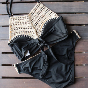 bikini lab - mix & match this is the remix crochet halter bralette (top only) - black - shophearts - 2