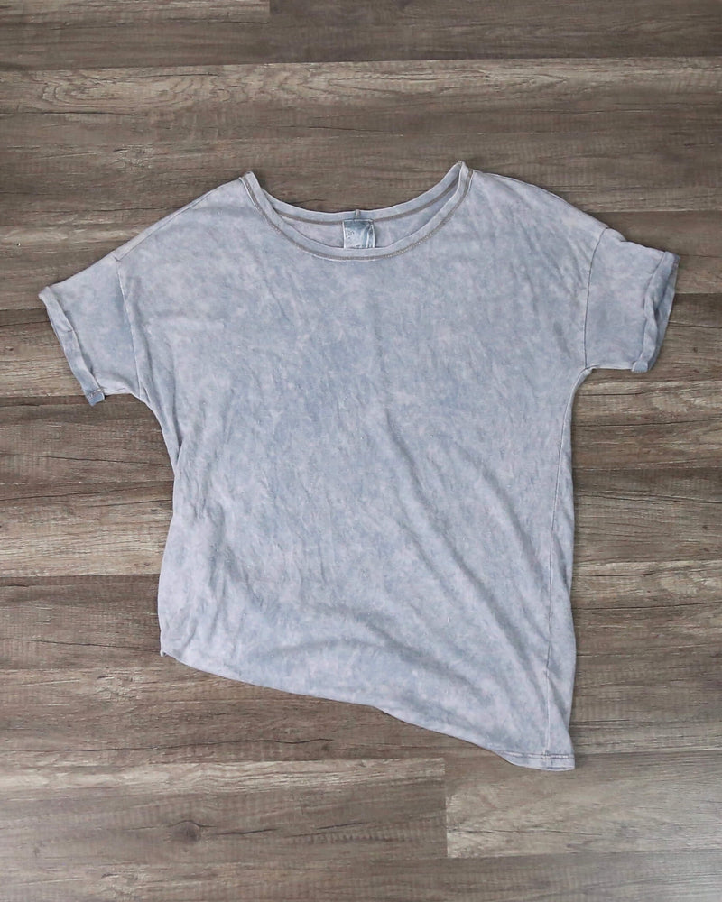 Blu Pepper - Oversize Tee in Vintage Wash/Blue