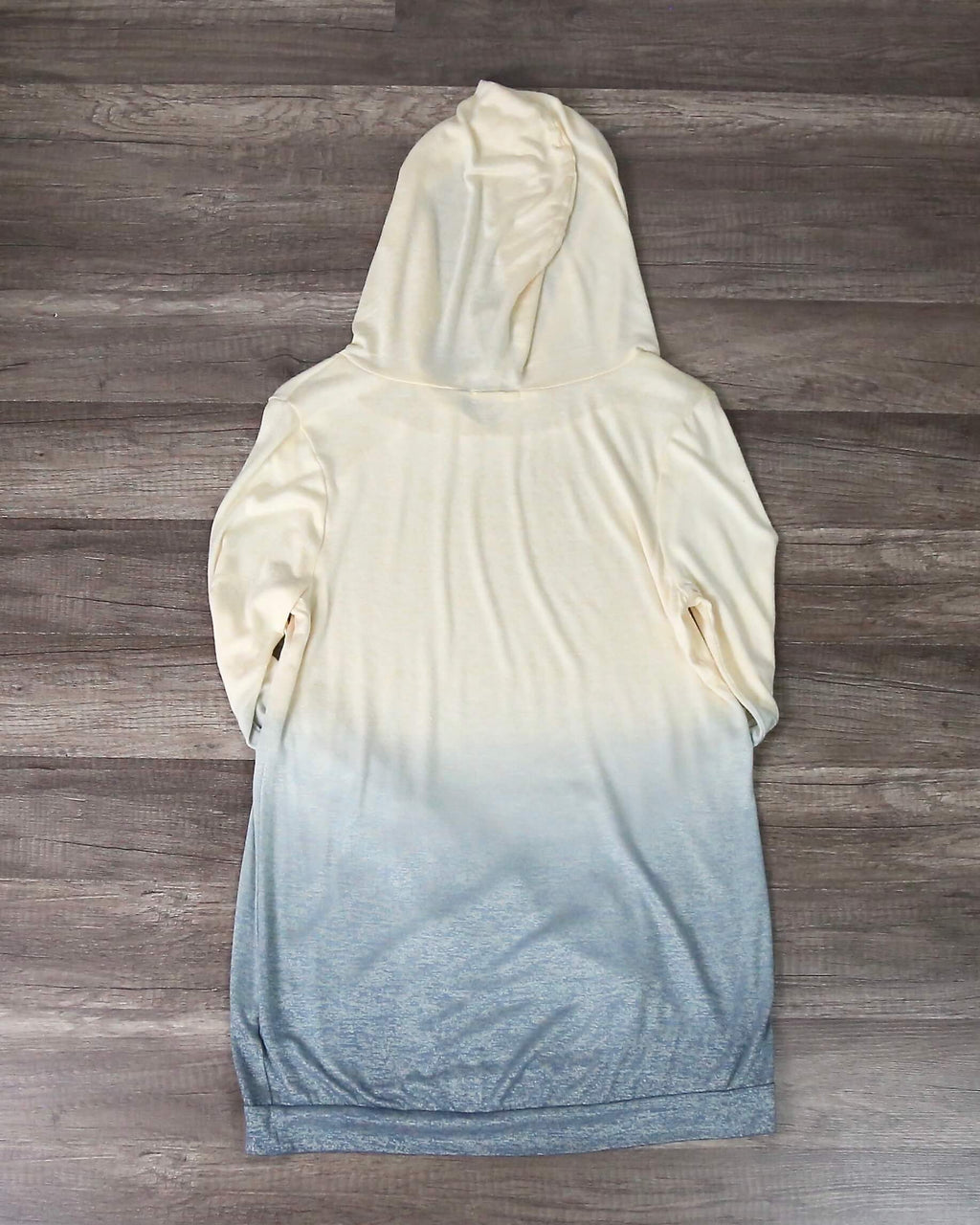 FINAL SALE - Ombre Lightweight Sweatshirt Hoodie in Yellow to Blue