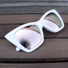 QUAY X SHAY MITCHELL - vesper iridescent sunglasses - white - shophearts - 1