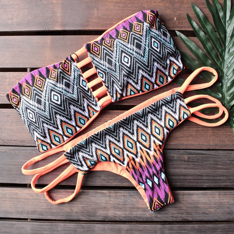 khongboon swimwear - safi handmade two-piece bikini with reversible brazilian-cut bottom - shophearts - 1