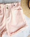 reverse - pink denim shorts