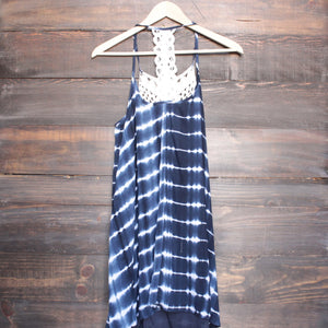 tie dye crochet bib sun dress - navy - shophearts - 3