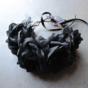 Rock 'N Rose - Ophelia Handmade Flower Crown - black - shophearts - 1