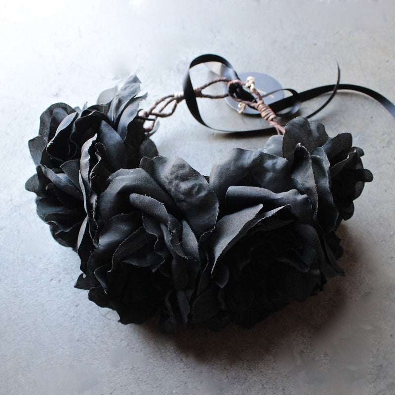 Rock 'N Rose - Ophelia Handmade Flower Crown - black - shophearts - 3
