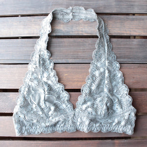 intimate semi-sheer halter lace bralette (7 colors) - shophearts - 6