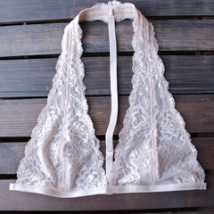intimate lace halter t-strap bralette (8 colors) - shophearts - 6