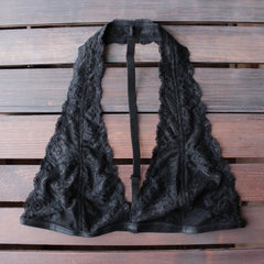 intimate lace halter t-strap bralette (8 colors) - shophearts - 8
