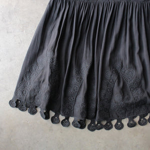 summer lace mini dress - black - shophearts - 4