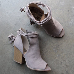 Madelynn suede open toe bootie - shophearts - 4