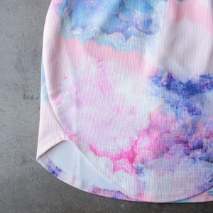 dreamy off the shoulder watercolor bodycon dress - shophearts - 3