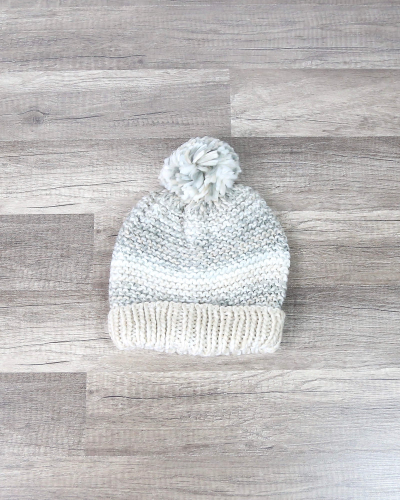 Pom Pom Stripe Beanie in More Colors