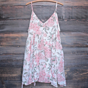 melrose place floral chiffon swing dress - shophearts - 1
