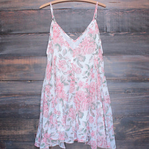 melrose place floral chiffon swing dress - shophearts - 2