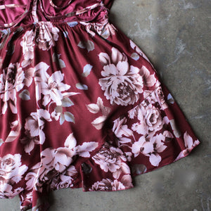 reverse - girl crush romper in burgundy floral - shophearts - 6