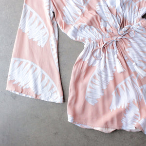 reverse - day in the sun romper in peach jungle - shophearts - 4