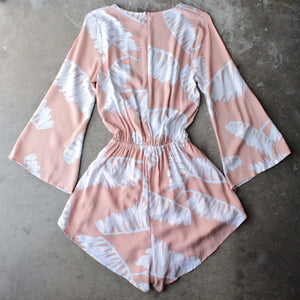 reverse - day in the sun romper in peach jungle - shophearts - 2
