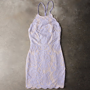 up all night scallop edge lace dress - lilac - shophearts - 2