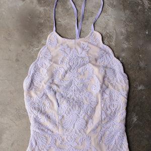 up all night scallop edge lace dress - lilac - shophearts - 3