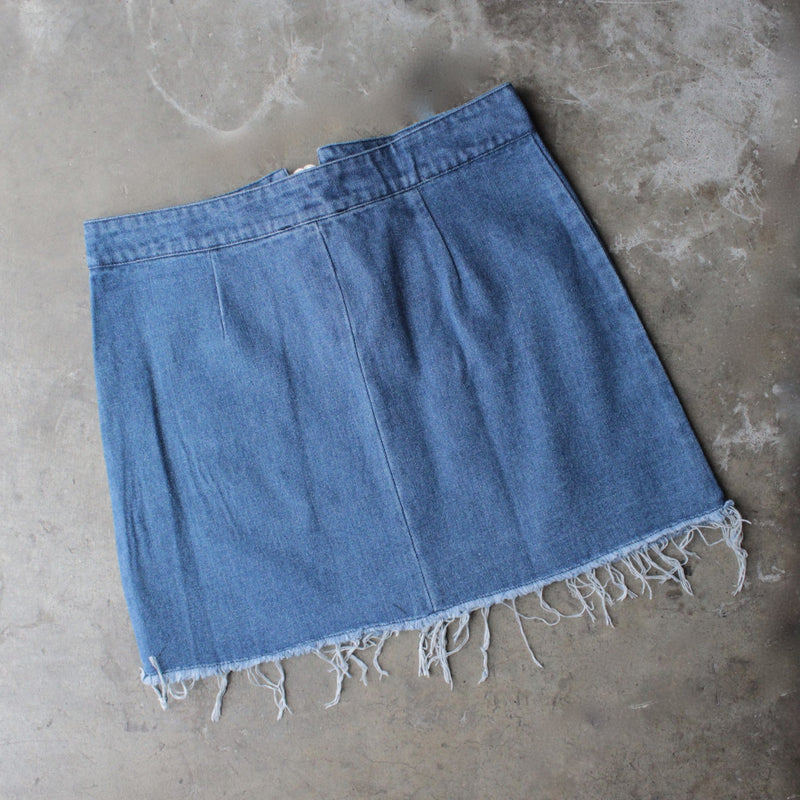 denim lace up skirt - shophearts - 2