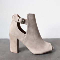 distressed peep-toe booties (more colors) - shophearts - 2