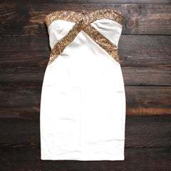 FINAL SALE - angelic little white party dress - shophearts - 1