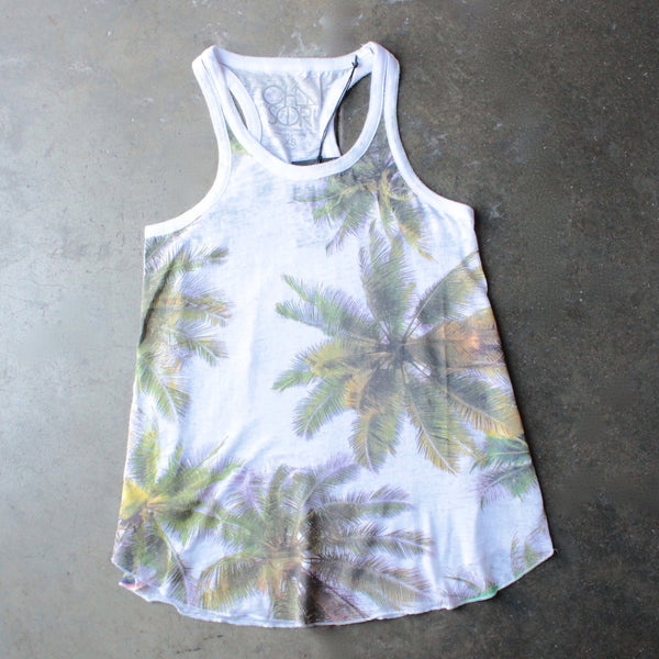 chaser - las palmas palm tree burnout tank - shophearts - 1
