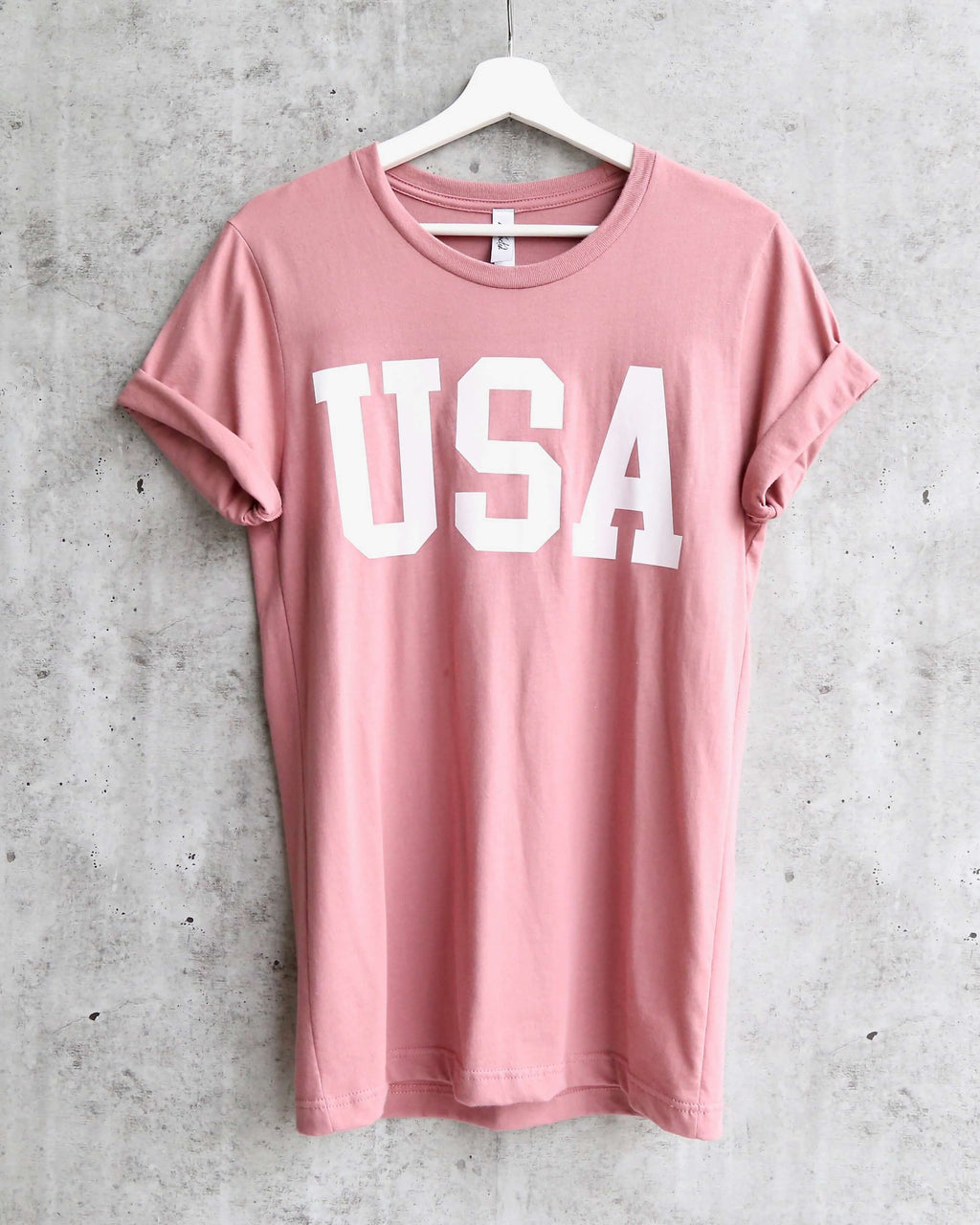 distracted - USA unisex tee - mauve