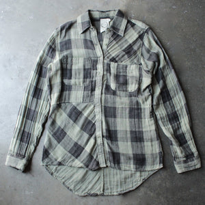 sea gypsies - coney button front plaid shirt - shophearts - 1