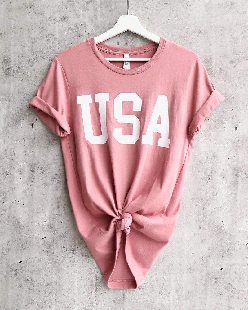 Distracted - USA Unisex Tee in Mauve