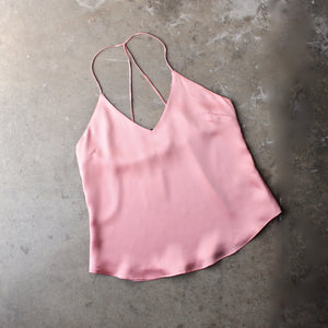 muse satin camisole - rose - shophearts - 1