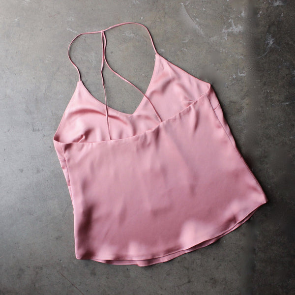 muse satin camisole - rose - shophearts - 4