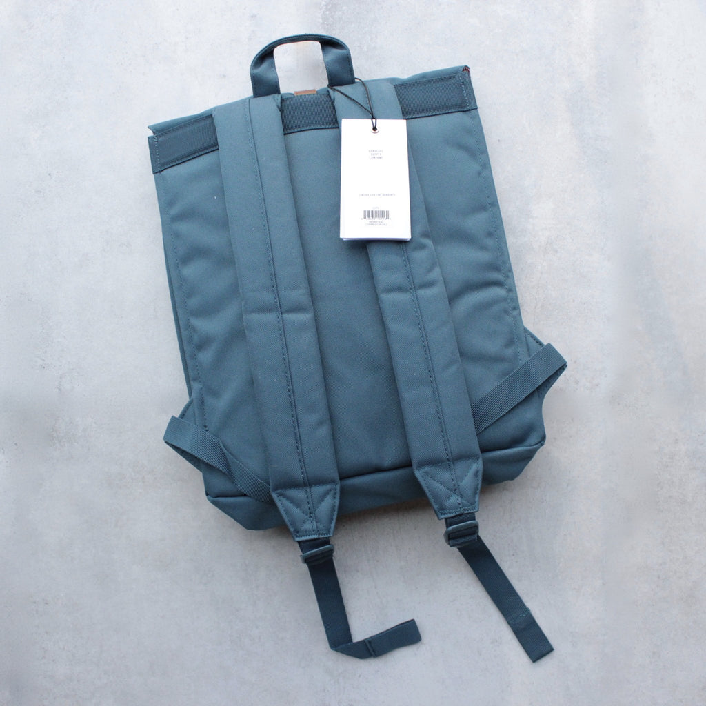 Herschel Supply - City Backpack | Mid-Volume - Indian Teal/Tan Synthetic Leather - shophearts - 2