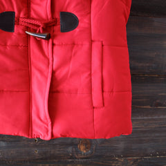 mountain slopes hooded red puffer vest - shophearts - 3