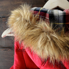 mountain slopes hooded red puffer vest - shophearts - 6