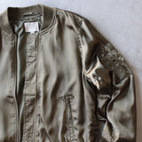 lightweight satin bomber jacket - olive - shophearts - 2