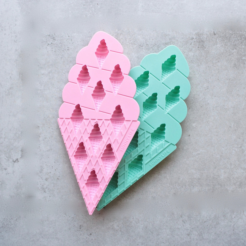 sunnylife - Ice Cream Ice Trays 2 Set - Pink and Turquoise - shophearts - 1