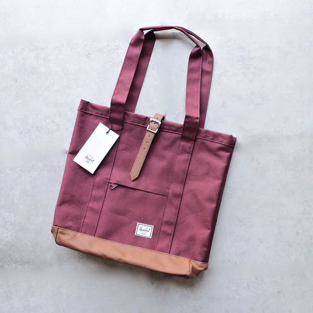 herschel supply co. - womens market tote - windsor wine - shophearts - 1