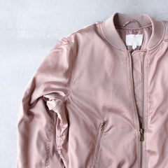 padded satin bomber jacket - mauve - shophearts - 3