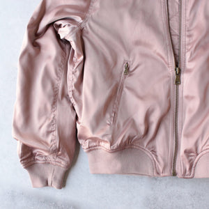 padded satin bomber jacket - mauve - shophearts - 4