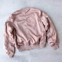 padded satin bomber jacket - mauve - shophearts - 2