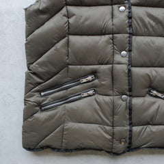 lightweight olive green winter storm puffer vest - shophearts - 4