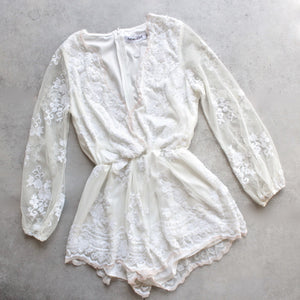 reverse - life of the party sequin romper white