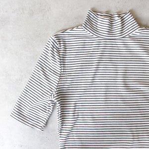 turtleneck striped ribbed bodysuit - shophearts - 2