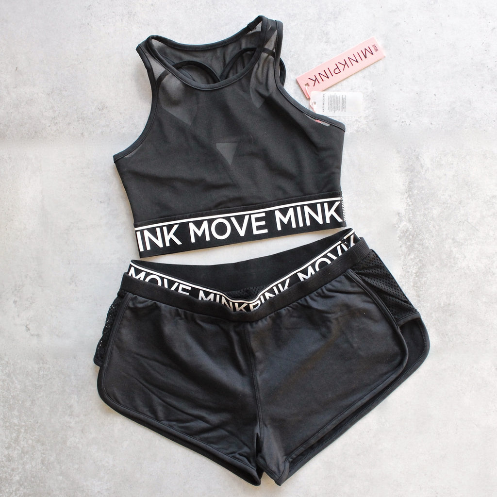 minkpink move - the dark side jogger shorts - black - shophearts - 1