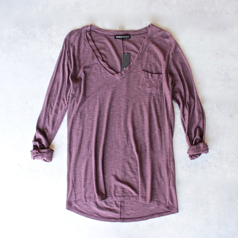 Michelle by Comune - 'Modesto' V-Neck Jersey Tee in Port Royal - shophearts - 1